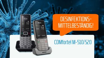 Keep Calm and Disinfect your COMfortel M-510/-520